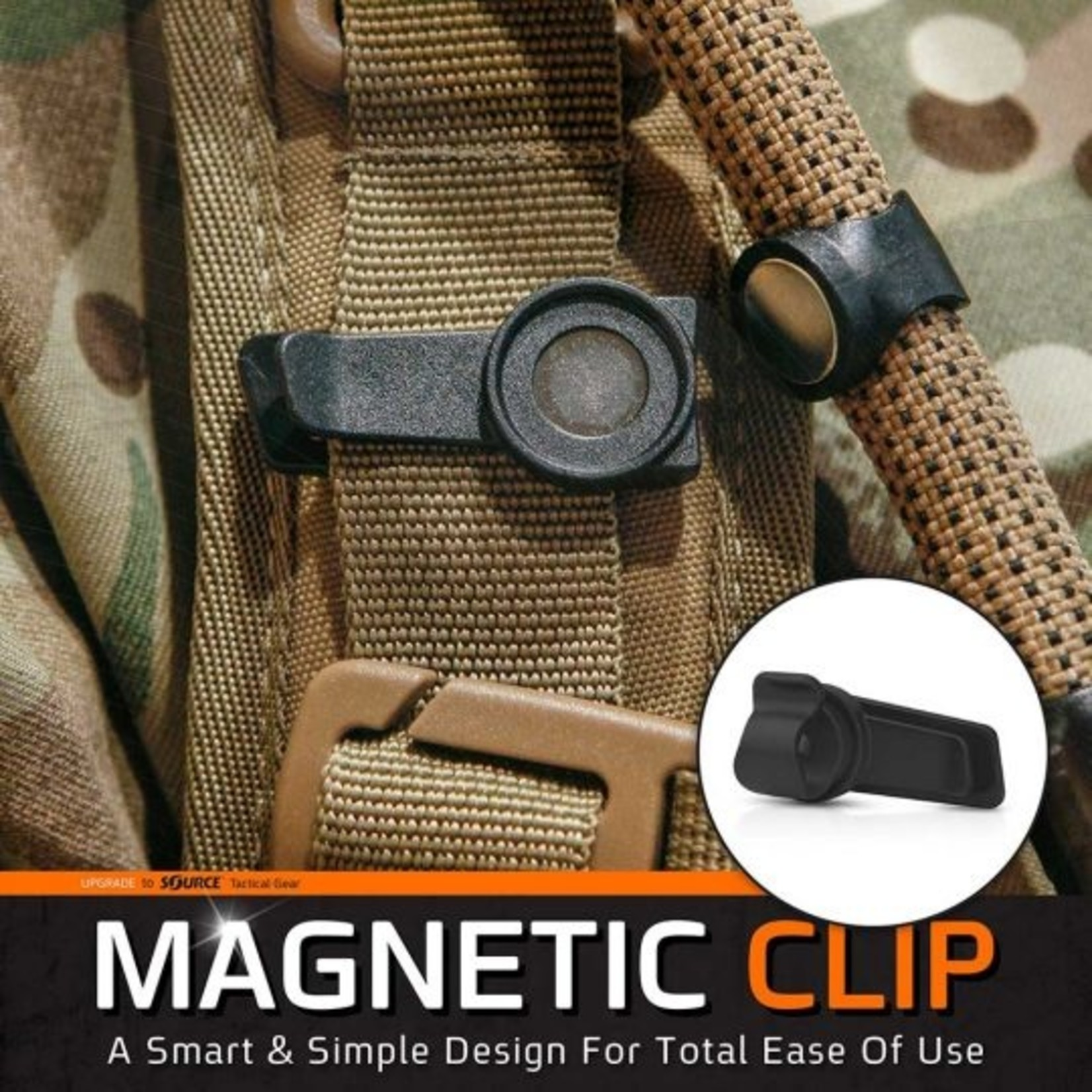 SOURCE TACTICAL GEAR MAGNETIC TUBE CLIP