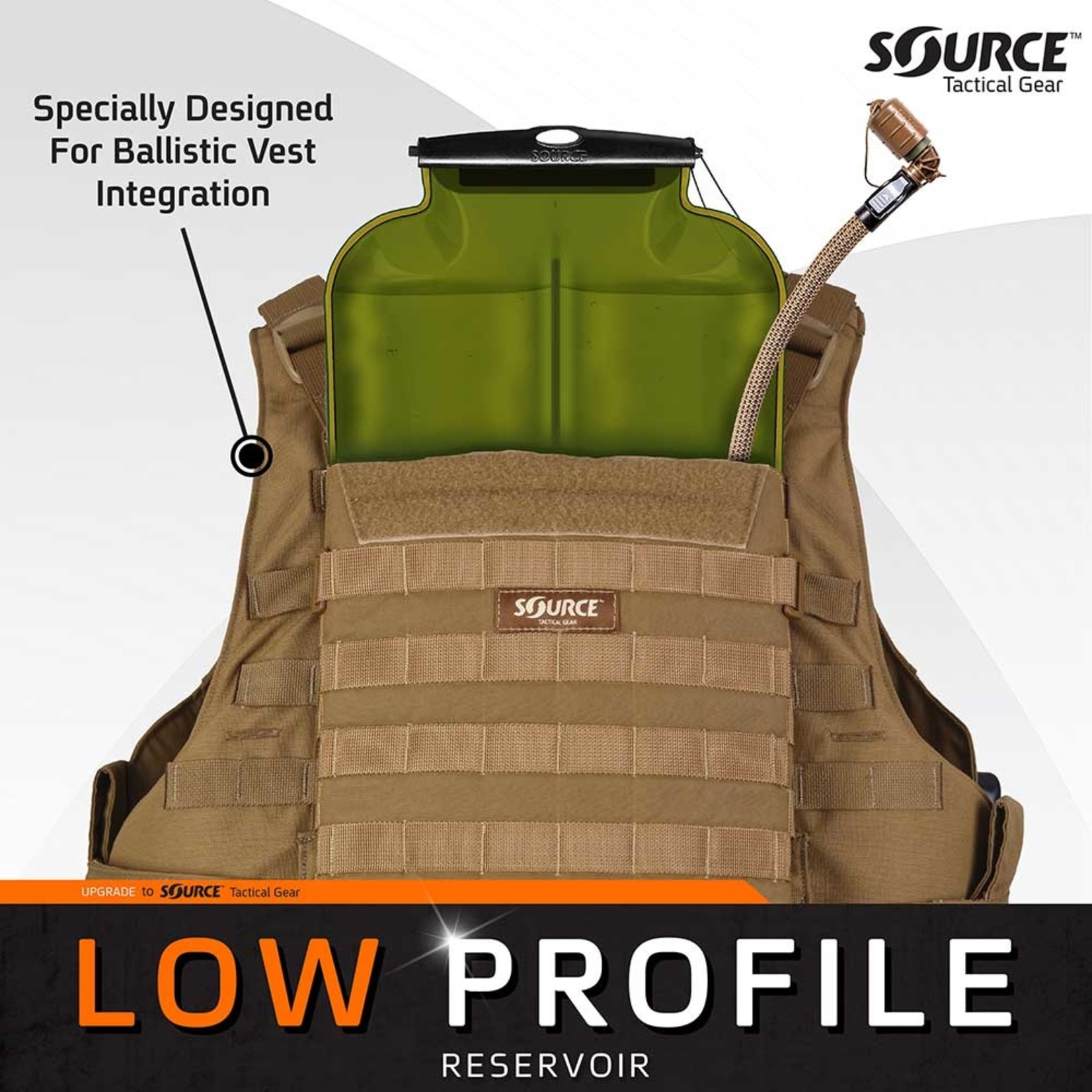 SOURCE TACTICAL GEAR ILPS WITH UTA | LOW PROFILE HYDRATION BLADDER | 3L (100 OZ.)