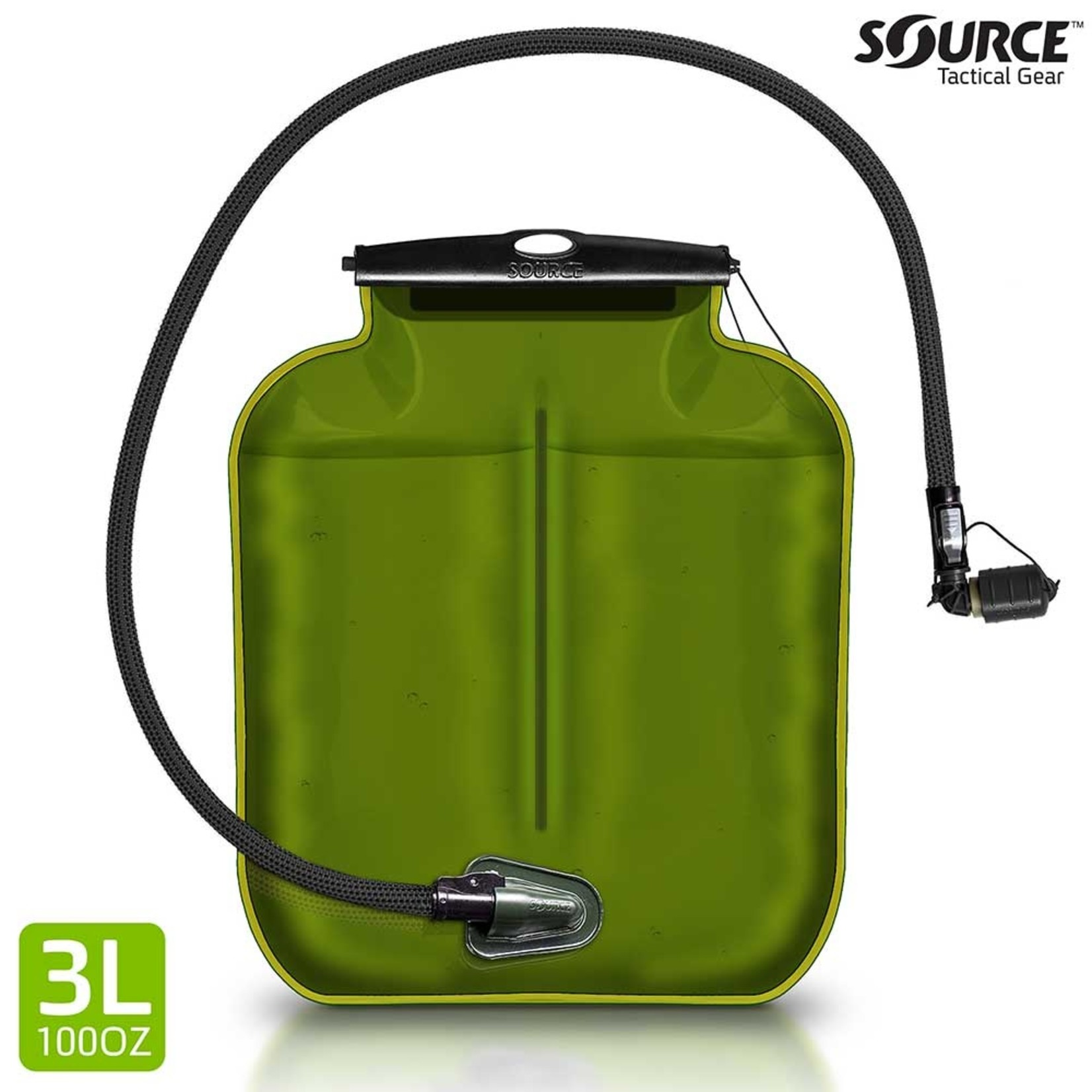 SOURCE TACTICAL GEAR ILPS WITH UTA   LOW PROFILE HYDRATION BLADDER   3L (100 OZ.)