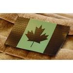 SDTAC INFRARED CANADIAN FLAG PATCH - GREEN & BLACK