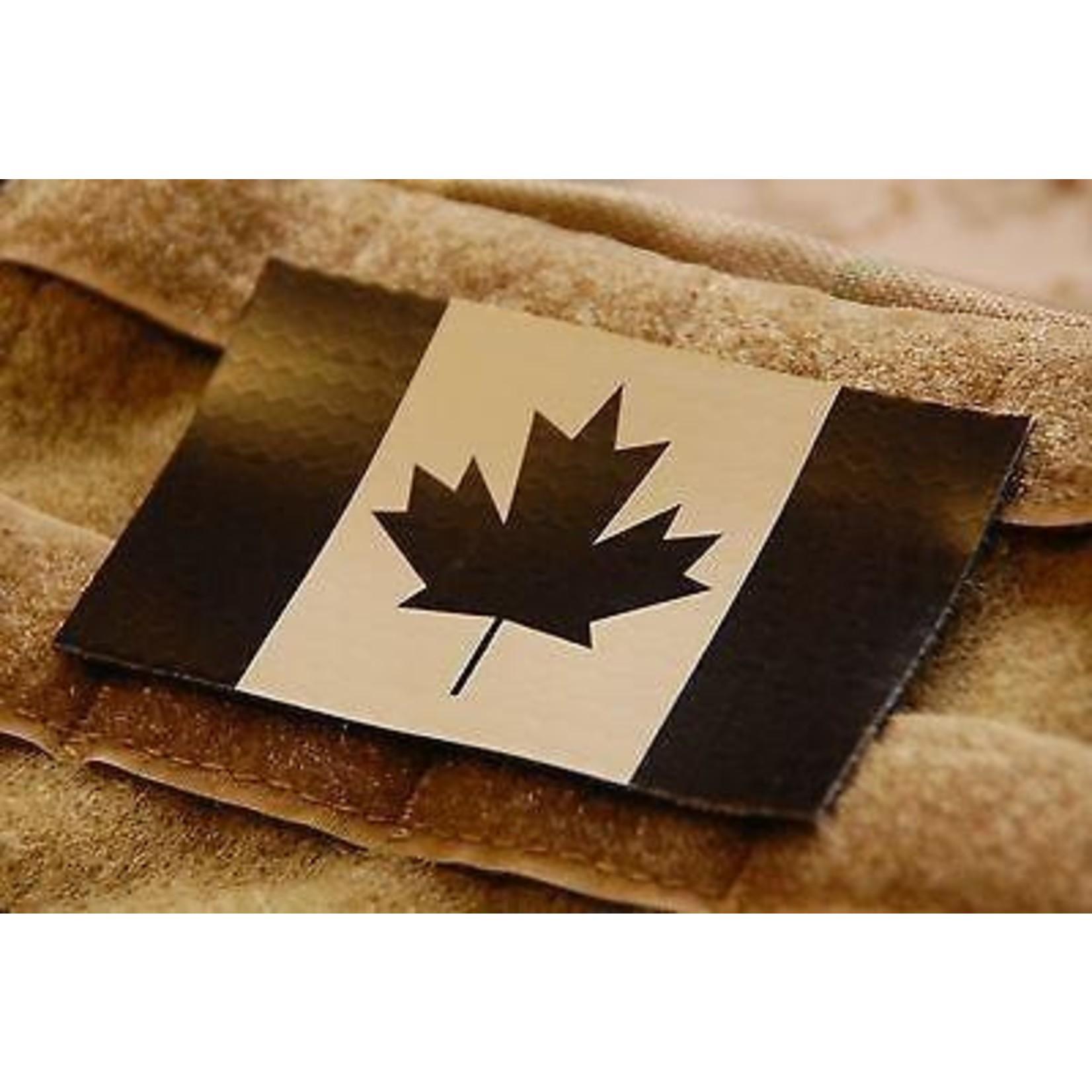 SDTAC INFRARED CANADIAN FLAG PATCH - TAN & BLACK