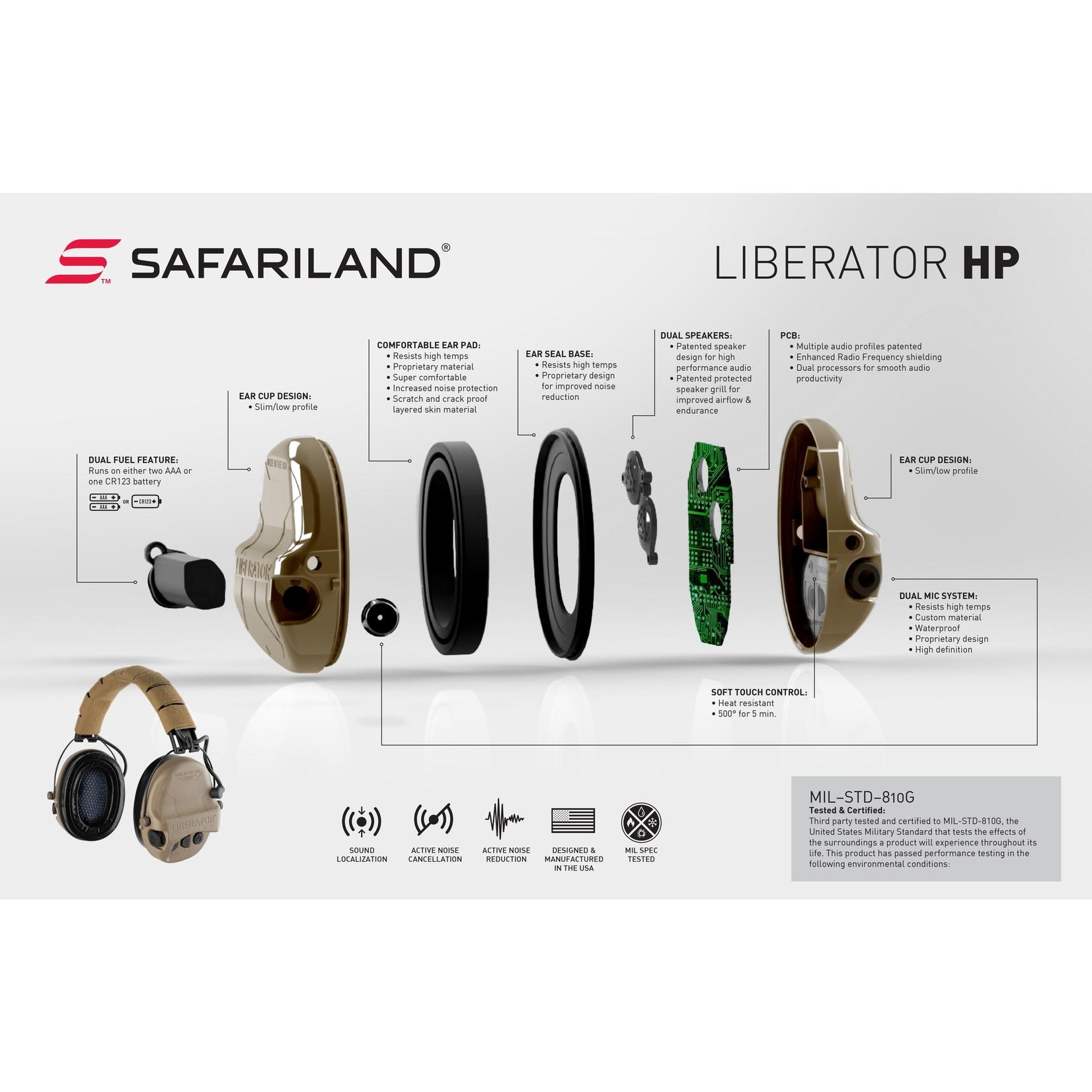 SAFARILAND LIBERATOR HP 2.0 HEARING PROTECTION