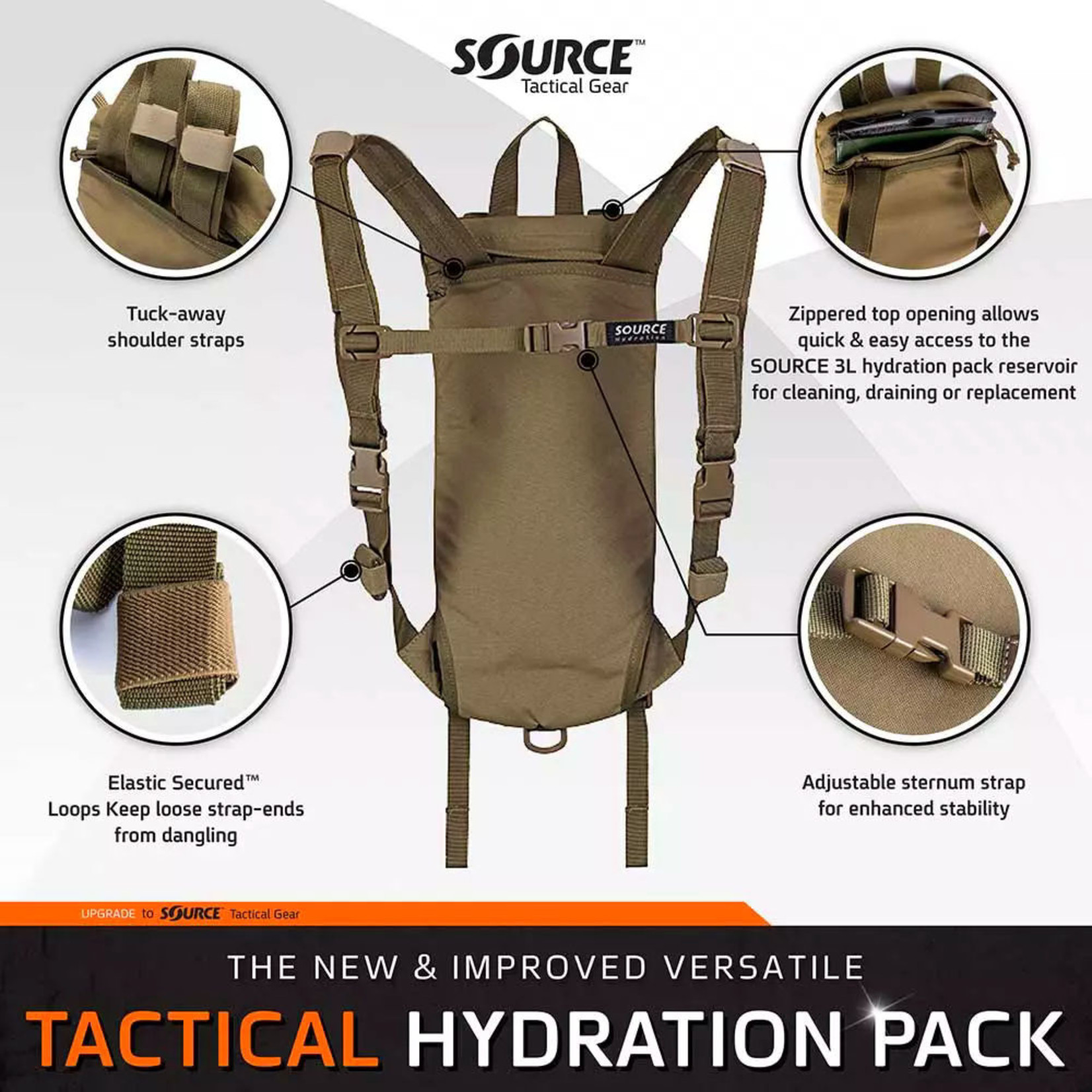 SOURCE TACTICAL GEAR TACTICAL HYDRATION PACK 3L  (100 oz.)