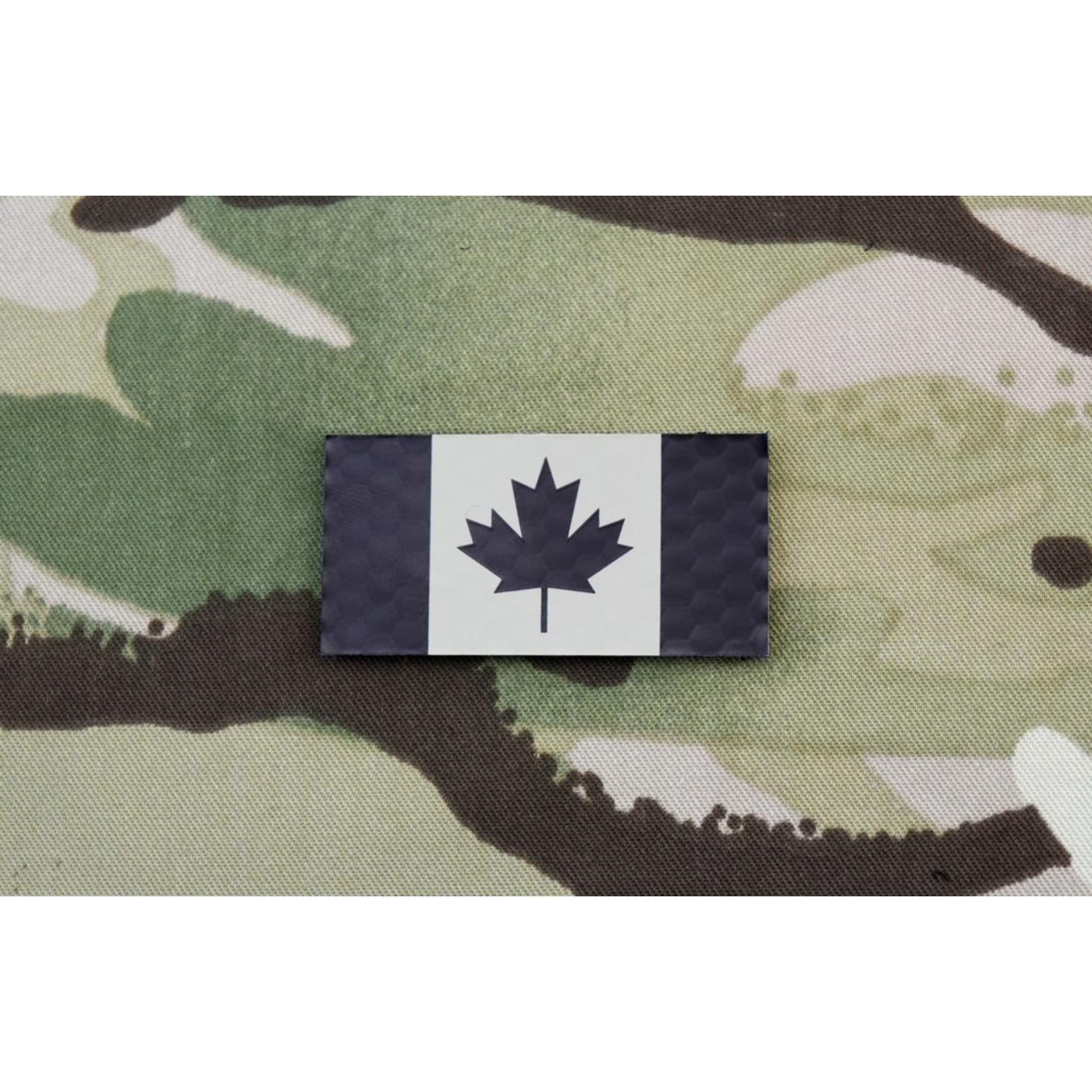 SDTAC INFRARED MINI CANADIAN FLAG PATCH - TAN & BLACK