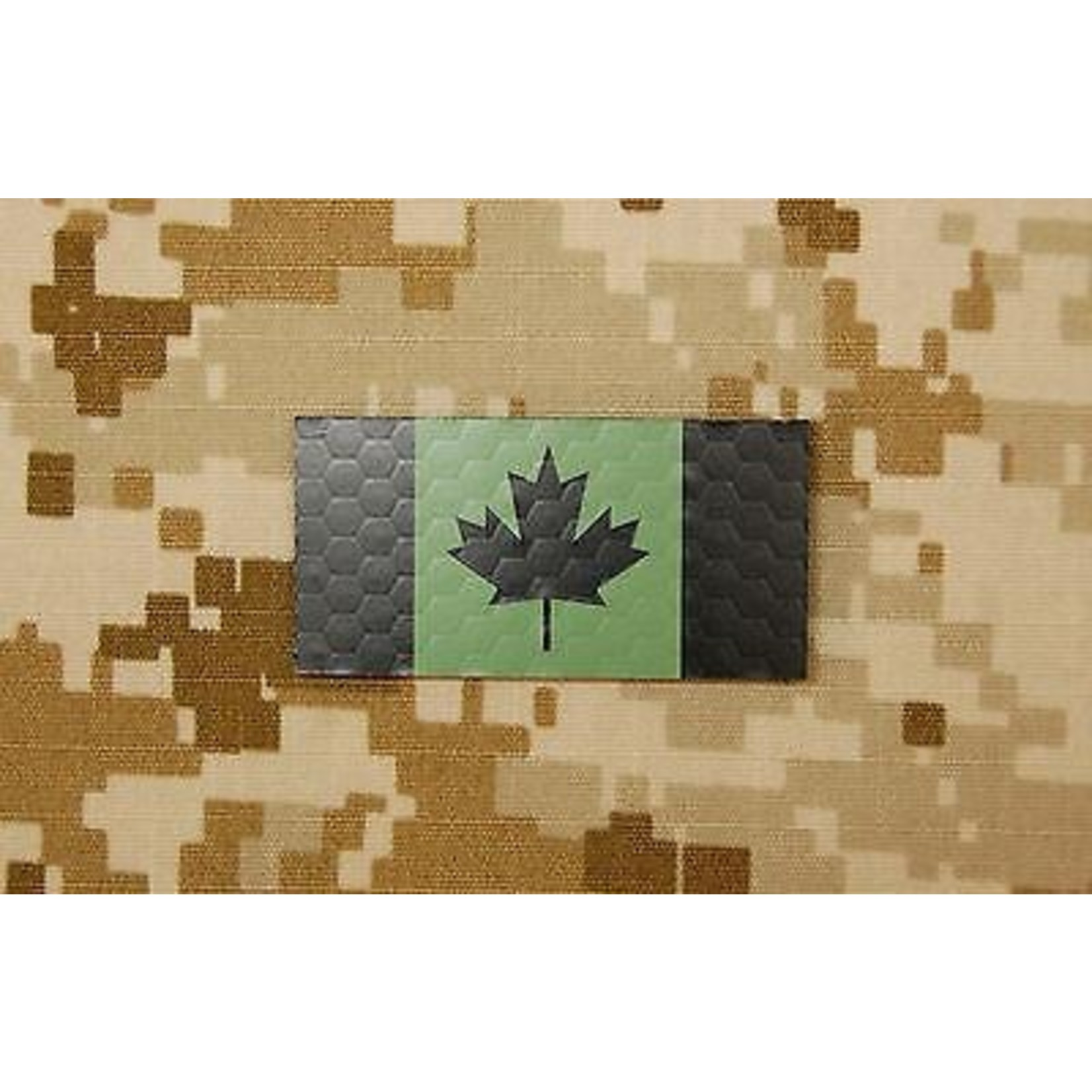 SDTAC INFRARED MINI CANADIAN FLAG PATCH - GREEN & BLACK