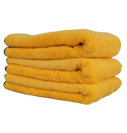 "Chemical Guys MIC_507_03 Professional Grade Premium Silk Banded Microfiber Towels, 16"" X 24"" (3 Pack)"