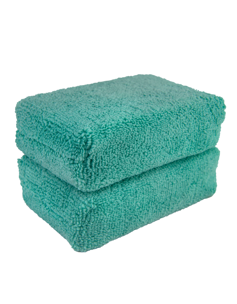 Chemical Guys MIC29802 Green - Microfiber Applicator Premium Grade (2 Pack)