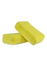 Chemical Guys MIC29902 Yellow - Microfiber Applicator Premium Grade (2 Pack)