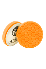 "Hex-Logic BUFX_102HEX4 4"" Hex-Logic Pad Orange Medium-Heavy Cut Scratch & Swirl Remover Pad- (4""Inch)"