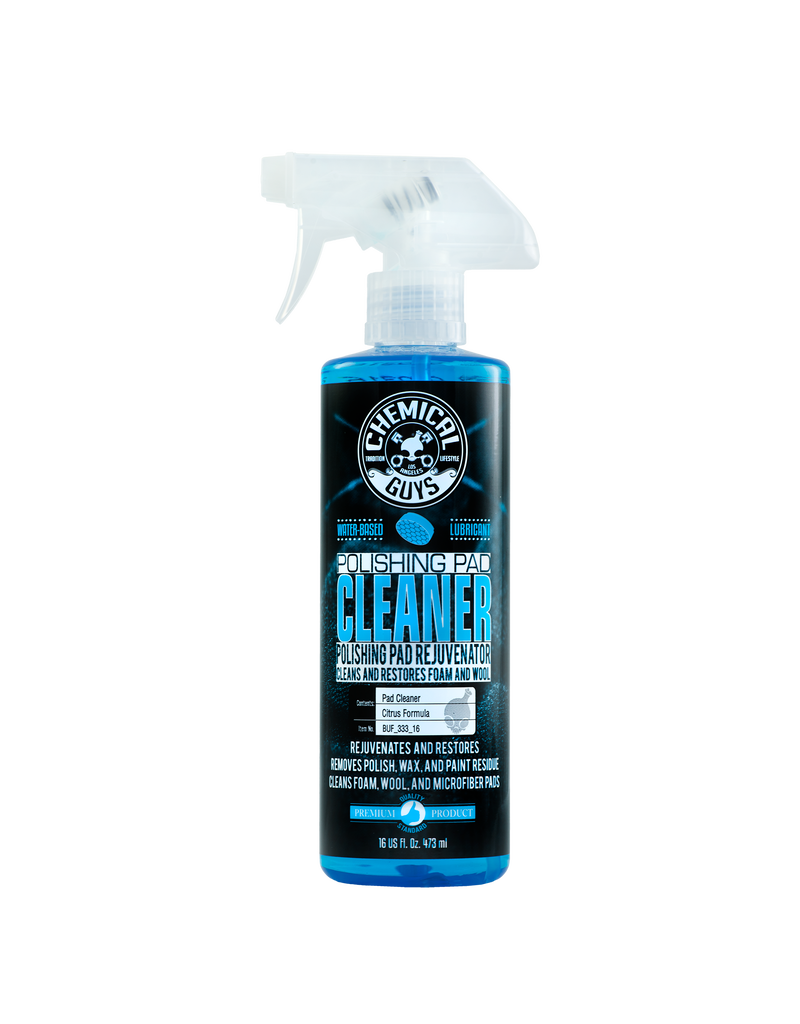 Chemical Guys BUF_333_16 Pad*Cleaner-Foam & Wool Pad Cleaner -Citrus Based Blue- Get It Clean Fast (16 oz)