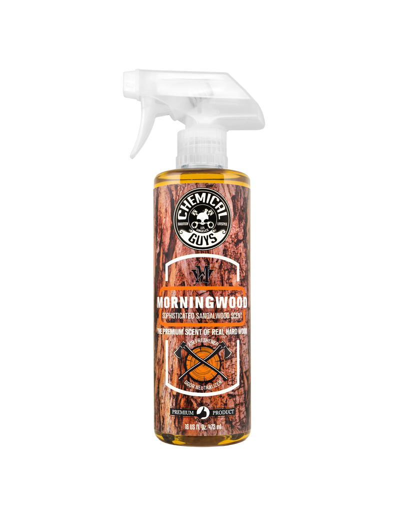Chemical Guys AIR23016 Morning Wood Sophisticated Sandalwood Scent Air Freshener & Odor Neutralizer, 16 fl. oz