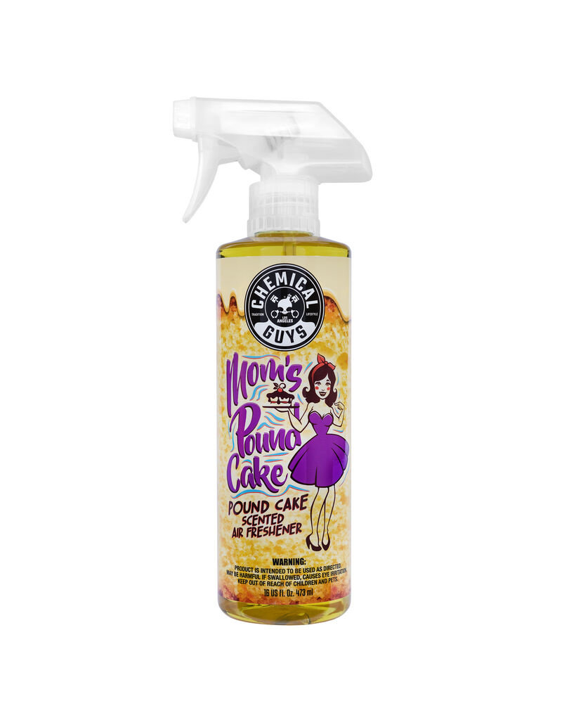 Chemical Guys AIR24616 Mom's Pound Cake Air Freshener & Odor Eliminator (16 oz)