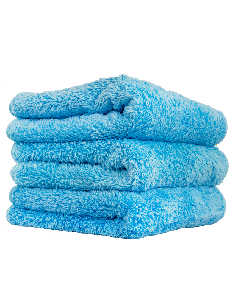 "Chemical Guys MIC32103 Shaggy Fur-Ball Premium Detailing Microfiber Towel, Blue 16"" X 16"" (3 Pack)"