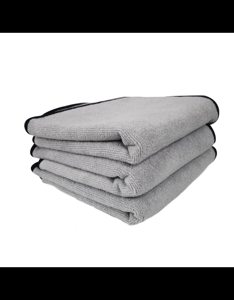 "Chemical Guys MIC_1024_1 Ultra Plush Super Quality Microfiber Towel, Grey 24"" X 17"""