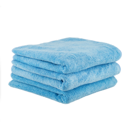 """Chemical Guys Workhorse Professional Microfiber Towel, Blue 16"""" x 16"""" (3 Pack)"""