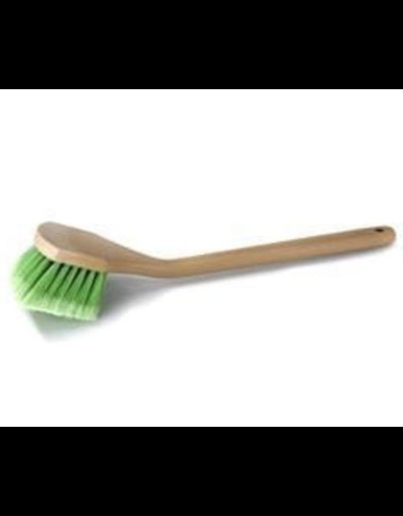 "Chemical Guys ACC_G01 20"" Angled Head Body & Wheel Brush Flagged-Tip Bristles (Green Polystyrene Head-Peach Handle)"