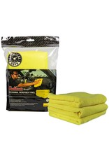 """Chemical Guys Workhorse Professional Microfiber Towel, Yellow 16"""" x 16"""" (3 Pack)"""