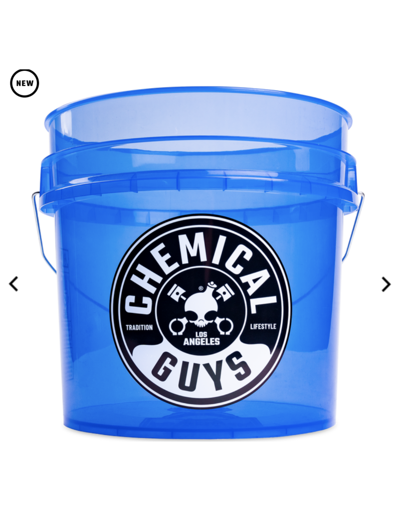 Chemcial Guys ACC109 - Chemical Guys Heavy Duty Detailing Bucket, 4.5 Gal, Transparent Blue