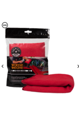 """Chemical Guys Waffle Weave Glass and Window Microfiber Towel, Red 24"""" x 16"""""""
