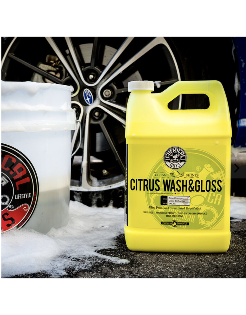Chemical Guys CWS_301_16 Citrus Wash & Gloss Concentrated Car Wash (16 oz)
