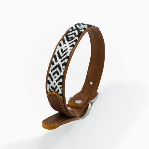 Canuto Canine Collar Piel Tejido