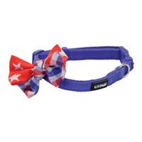 Collar Li'l Pals® Microfibra Ajustable w/ Bow Tie