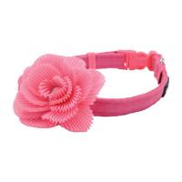 Collar Li'l Pals® Microfibra Ajustable w/ Pink Flower