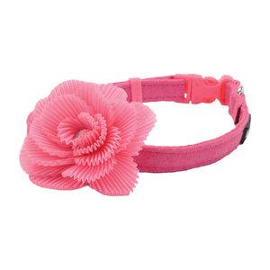 Coastal Collar Li'l Pals® Microfibra Ajustable w/ Pink Flower
