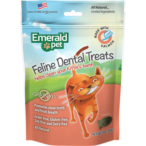 Emerald Pet Feline Premios Dentales - Salmon