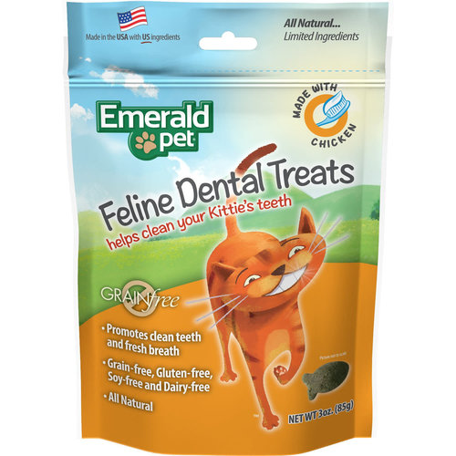 Emerald Pet Feline Premios Dentales - Pollo 85 g