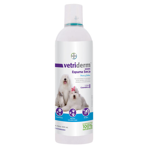 Bayer Shampoo Vetriderm Essec Espuma Seca 400 ml