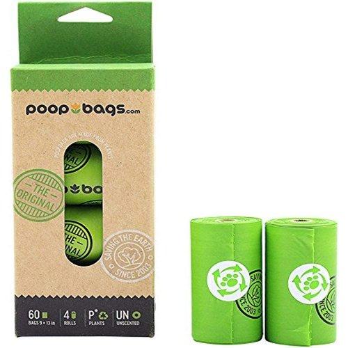 Poop Bags Caja Bolsas Compostable (4 rollos-60 pza)
