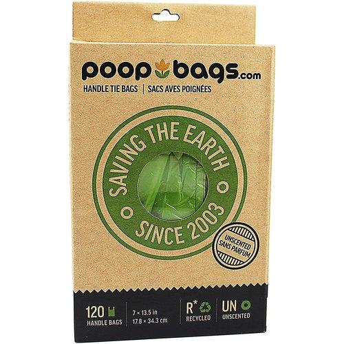Poop Bags Caja Bolsas Con Asa Biodegradables  (120 pza)
