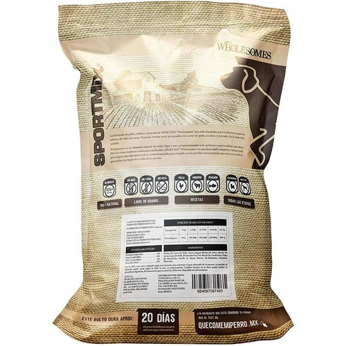 Sport Mix Canine Wholesomes Pollo y Arroz
