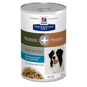 Hill's Prescription Diet Canine Lata Metabolic + Mobility Vegetable & Tuna Stew 350 g