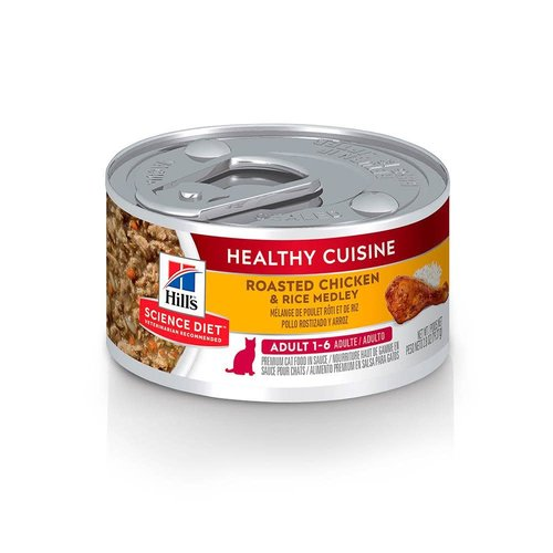 Hill's Science Diet Feline Lata Adult Healthy Cuisine Roasted Chicken & Rice Medley 80 g