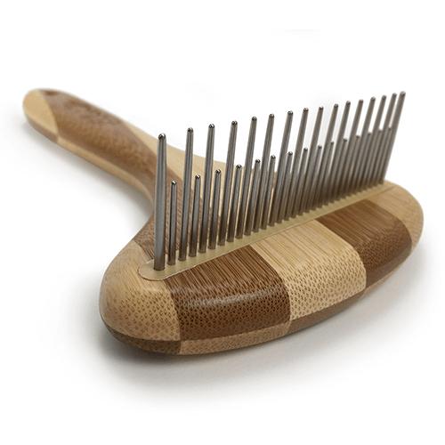 Ideas Caninas Sampoo Canine Rastrillo de 31 pins largos y cortos a 90°