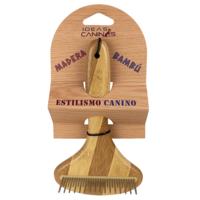 Canine Rastrillo de 31 pins largos y cortos a 90°