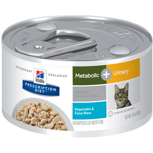 Hill's Prescription Diet Feline Lata Metabolic + Urinary  Vegetable & Tuna Stew82 g