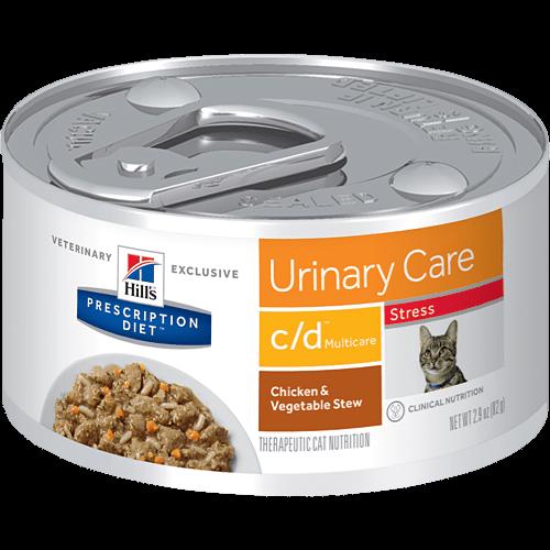 Hill's Prescription Diet Feline Lata C/D Multicare Stress Chicken Stew 82 g
