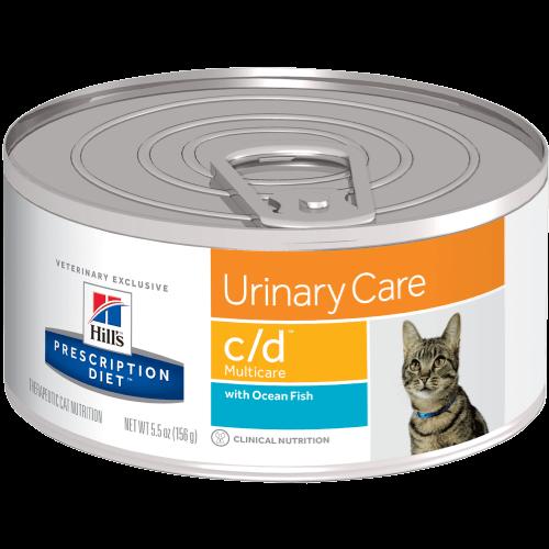Hill's Prescription Diet Feline Lata C/D Multicare With Ocean Fish 156 g