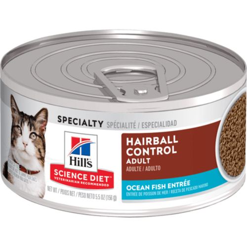 Hill's Science Diet Feline Lata Adult Hairball Control Seafood 156 g