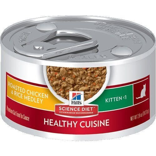 Hill's Science Diet Feline Lata Kitten Healthy Cuisine Roasted Chicken & Rice Medley 80 g