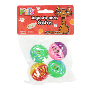 Fancy Pets Pelotas Bicolor 4Pza