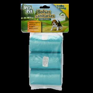 Dry Pet Bolsa Sanitaria  P/Recoger Desechos 3 Rollos (60 Pzs)