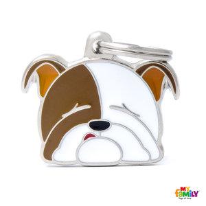 My Family Placa Perro Bulldog Inglés