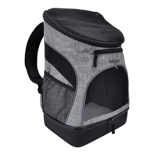 Bergan Canine BackPack Pet Carrier - Blanco Y Gris