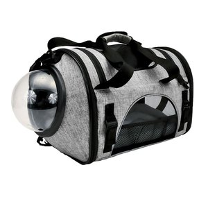 Bergan Feline Panoramic Carrier -Blanco Y Gris