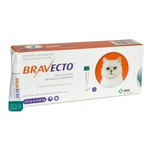 Laboratorio MSD Bravecto Spot On Cat 250 mg