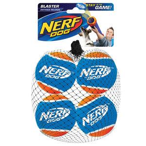 Nerf Recambio de bolas de tenis de distancia de 4 paquetes.